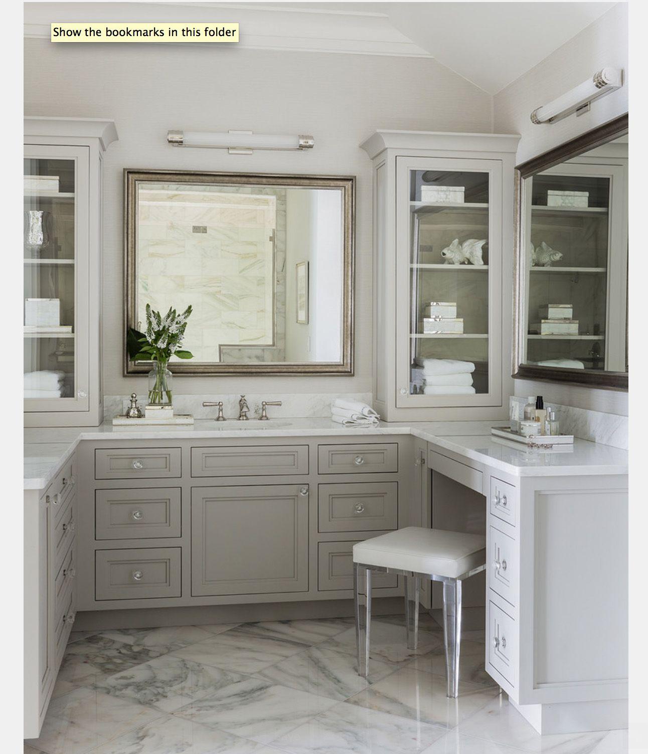 Like colors master bath pinterest makeup vanities vanities