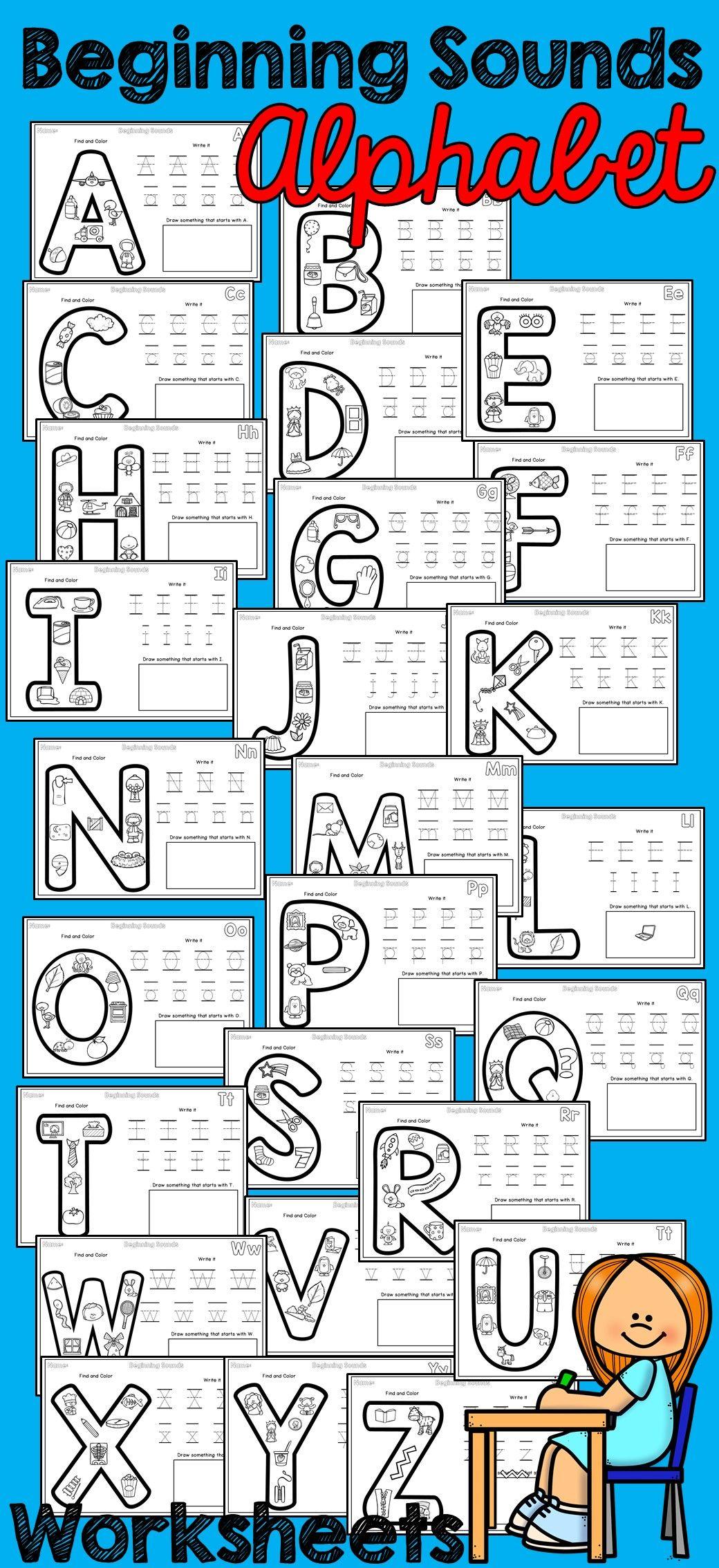 Beginning Sounds Alphabet No Prep