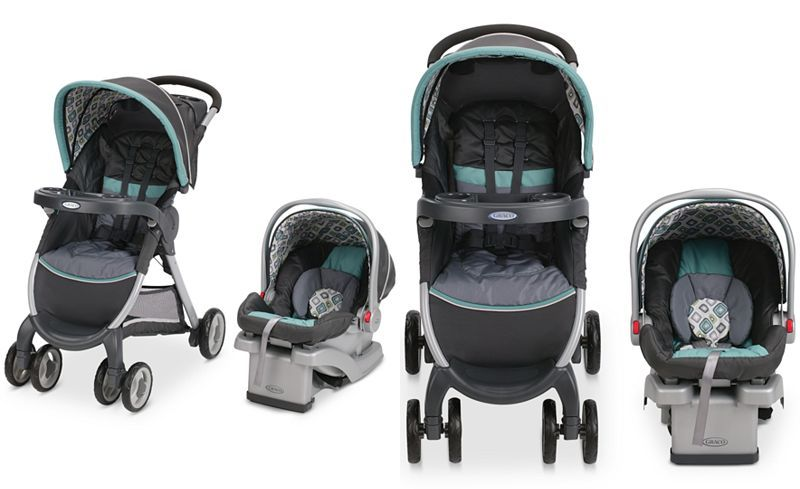 Graco FastAction Fold Stroller & SnugRide Click Connect 30 Car Seat ...