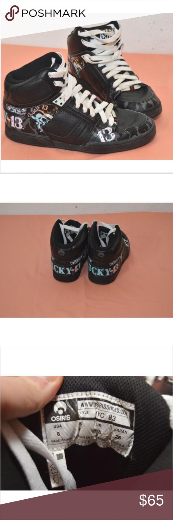 91681de617e OSIRIS NYC 83 Lucky 13 Customized RARE Black OSIRIS NYC 83 Lucky 13  Customized RARE Black