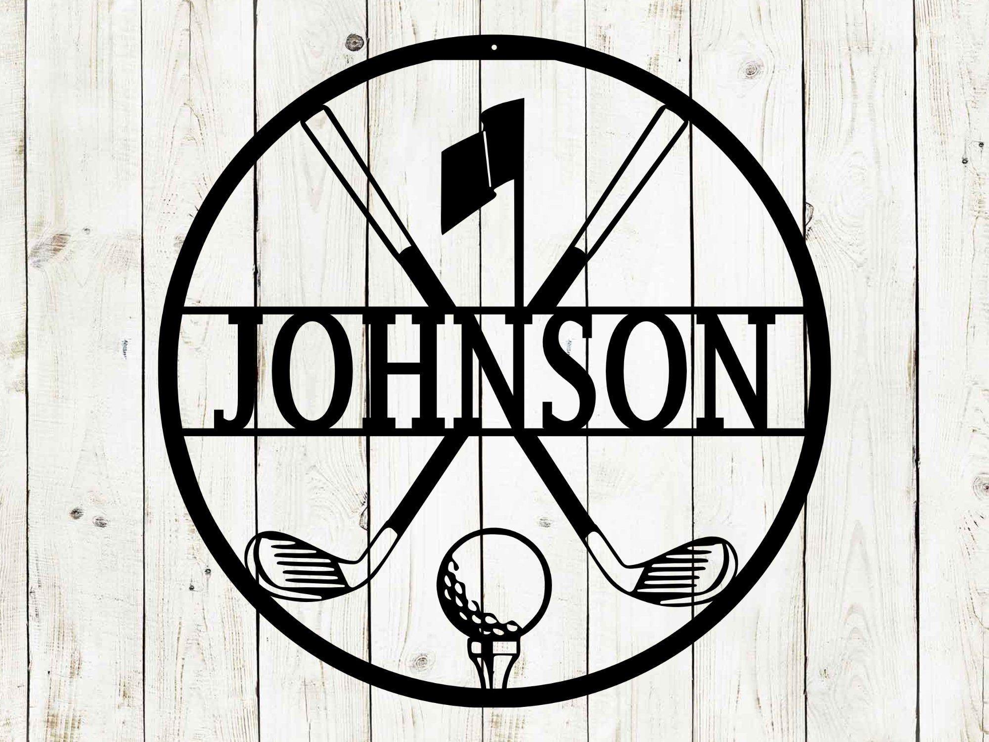 Golf Custom Name Metal Sign, Golf Sign, Bar Sign, 19th Hole, Custom Golf Sign, Man Cave, Home Bar, Game Room Sign, Fathers Day, Golf