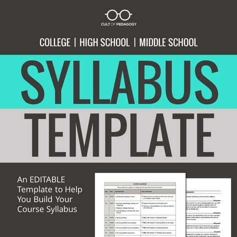How to Write a Syllabus   Middle school teachers, High school and ...