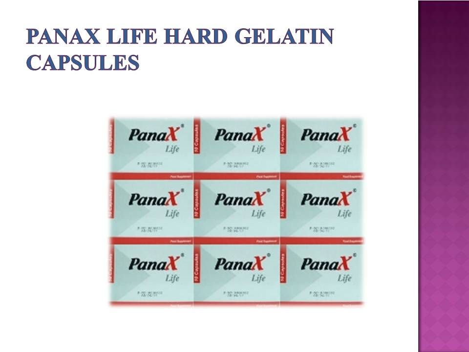 Panax Life Capsule Capsule Gelatin Capsules Life
