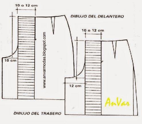 b2413d5e3 AnVar - Te enseño a coser: TRAZO DE LA FALDA PANTALÓN … | Faldas ...