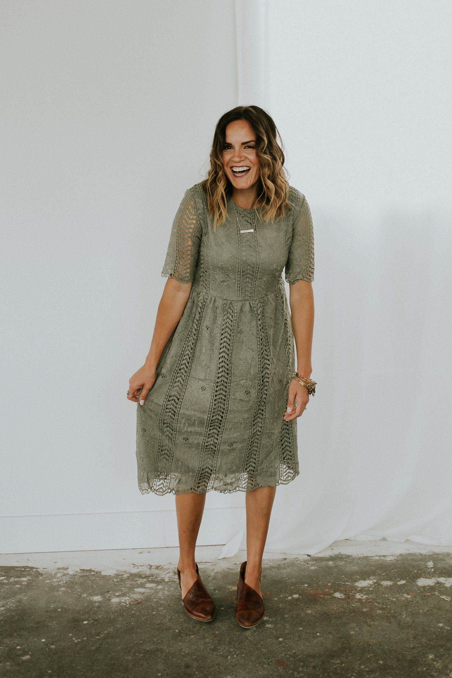 Olive Lace Dress | ROOLEE