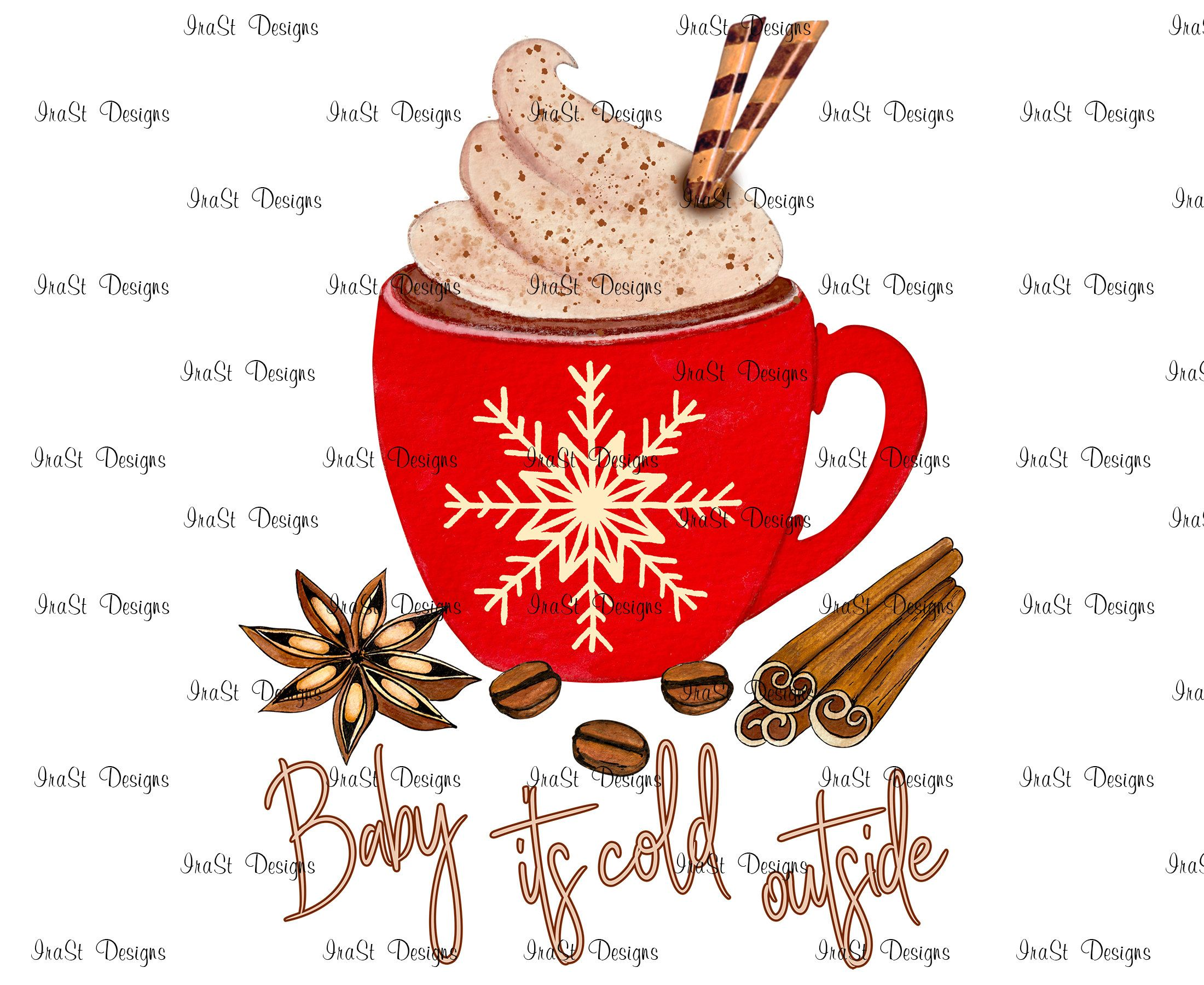 Baby Its Cold Outside Sublimation Png Christmas Mug Etsy Baby Cold Christmas Mugs Hot Chocolate Drawing