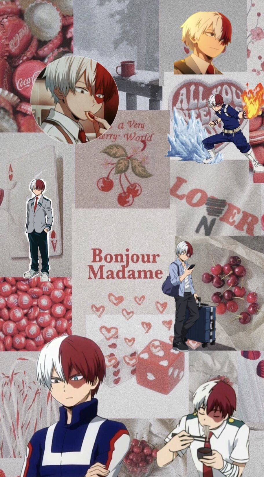 Todoroki Aesthetic Wallpaper Cute Anime Wallpaper Cute Wallpapers Red And White Wallpaper