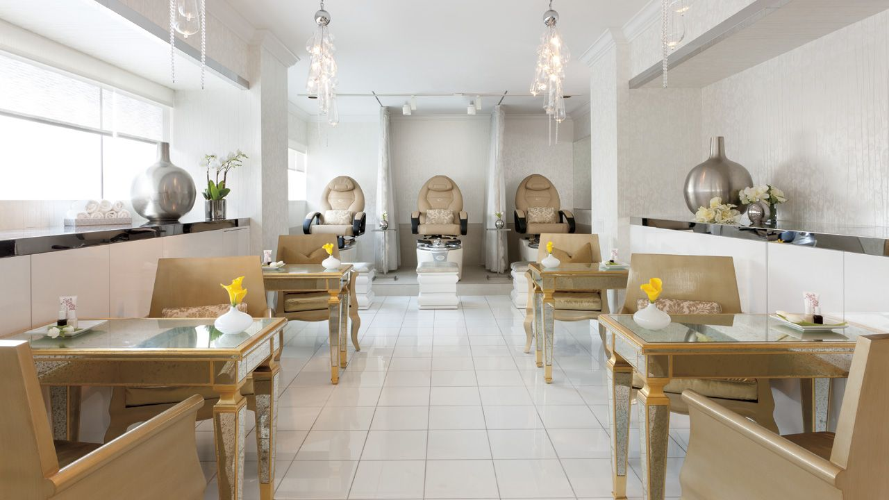 The nail salon at The Ritz-Carlton Spa, Los Angeles was inspired by ...