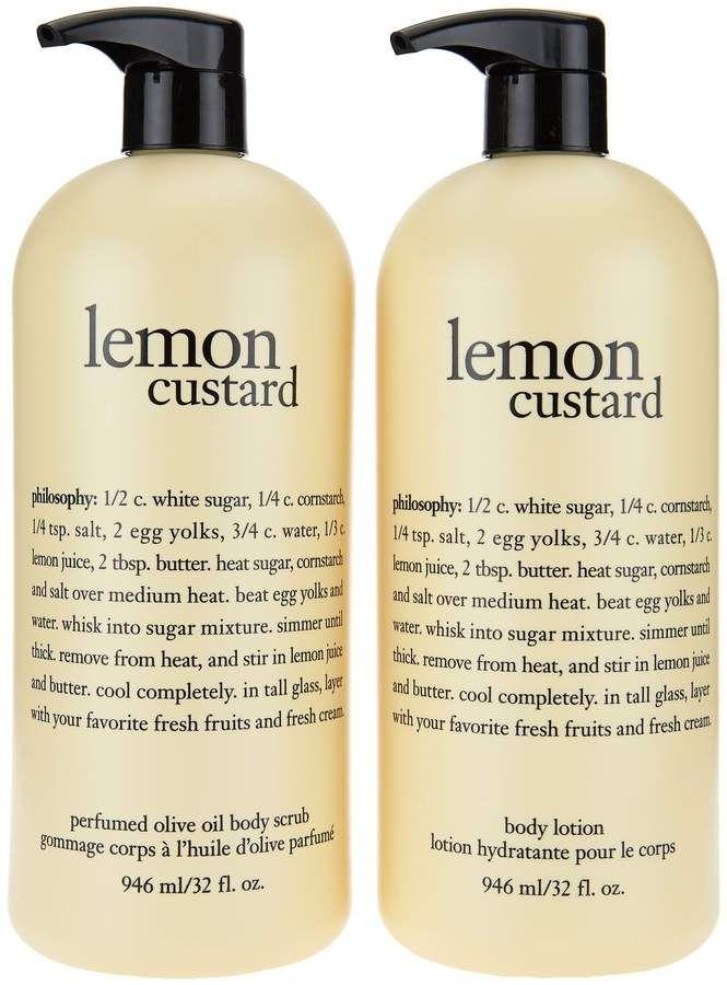 Philosophy Super Size Olive Oil Scrub Body Lotion Duo Qvc Com Oil Scrub Body Lotion Body Scrub