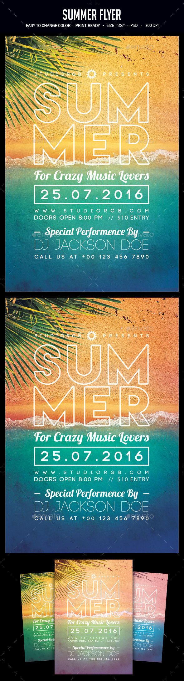 Summer Flyer  Party Flyer Flyer Template And Summer