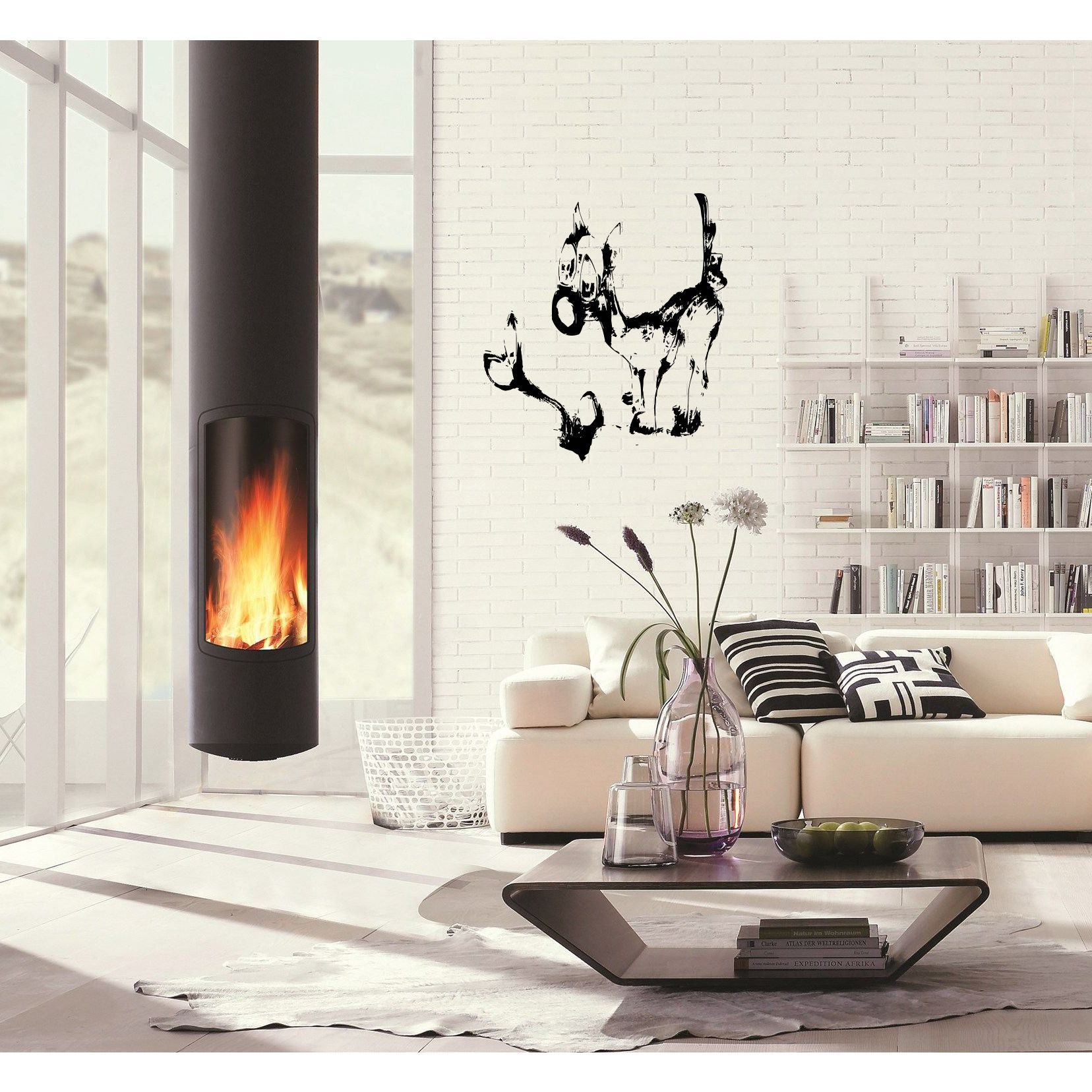 Fireplace Decal Funny Dog With A Bone Wall Art Sticker Decal Products