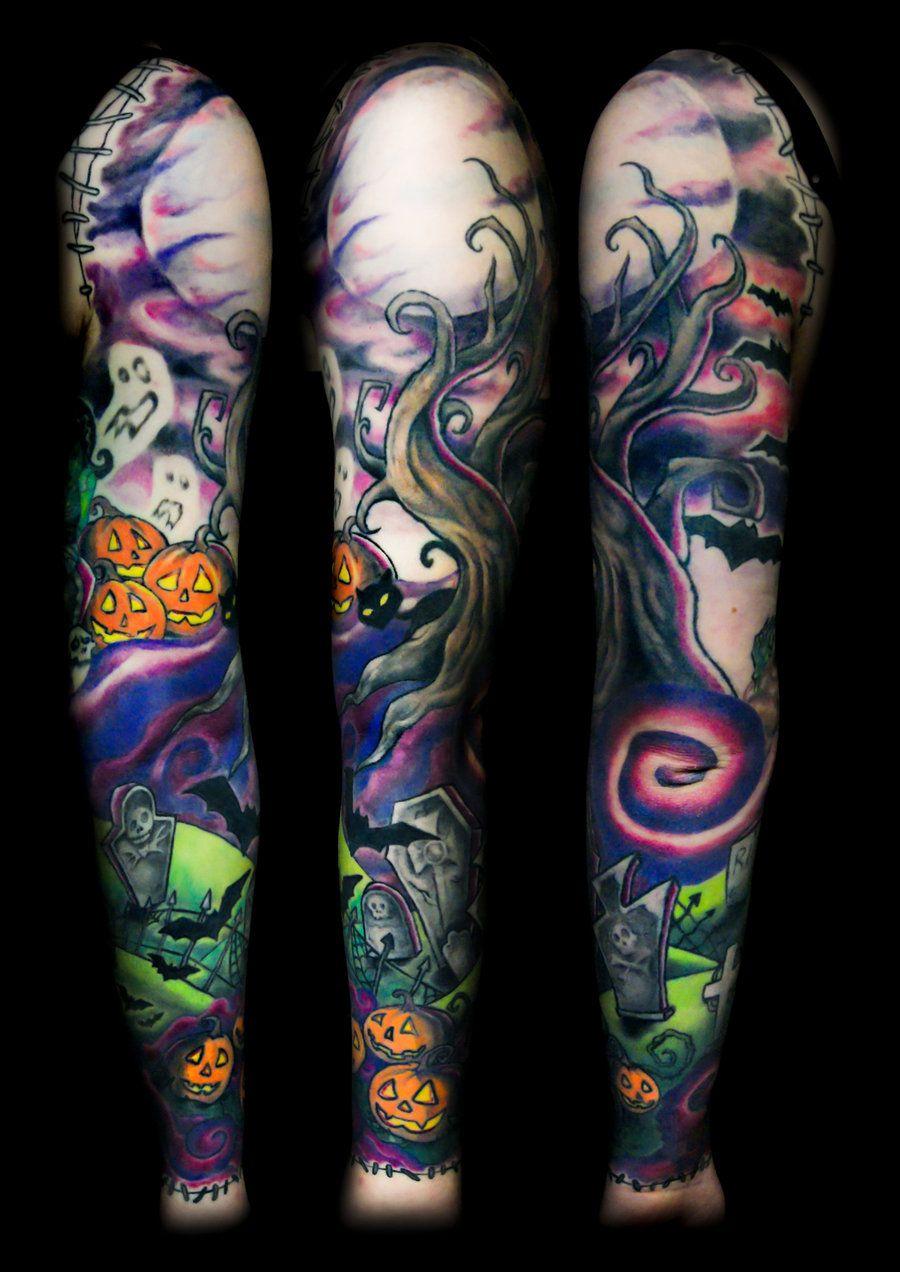Halloween Sleeve Tattoo Ideas