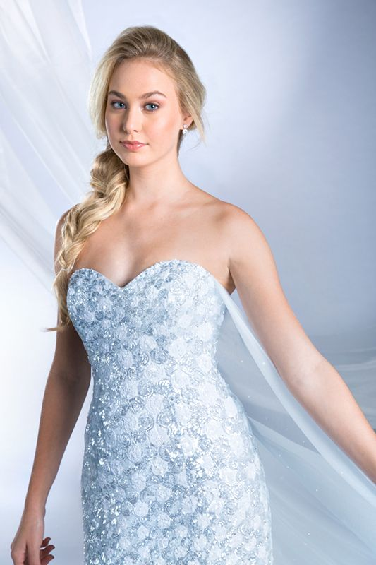 Elsa Inspired Frozen Wedding Gown - 2015 Disney\'s Fairy Tale ...