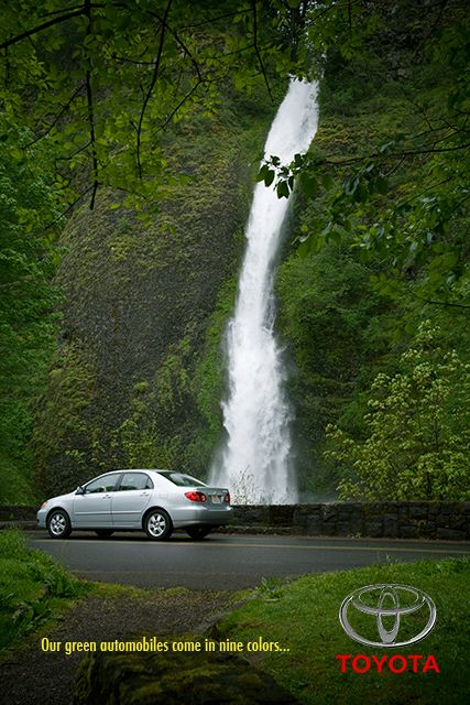 Go Green With Toyota Ad Advertisement Prius Advertisement