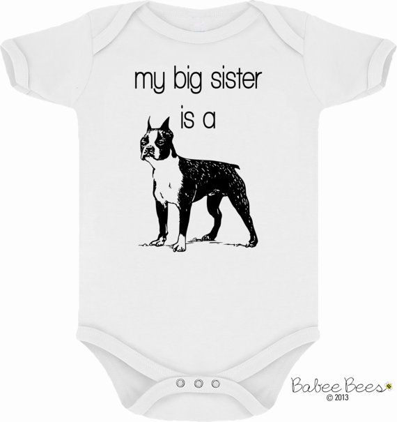 Boston Terrier Baby Clothes Dog Baby Clothes Dog And Baby Dog