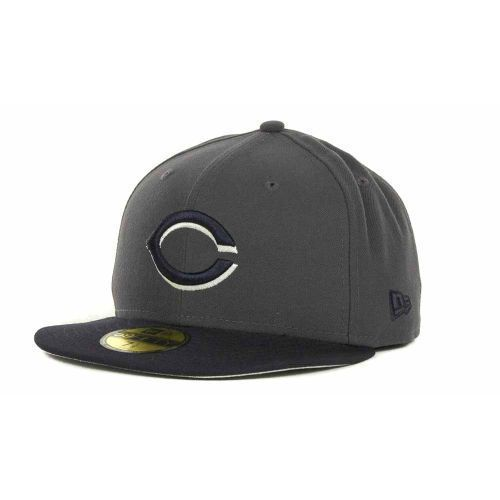58eb4ed49db ... ireland cincinnati reds mlb custom 2tone graphite navy 5950 fitted flat  bill hat cap lid 8b6c8