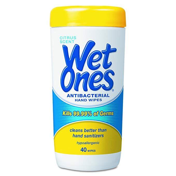 Wet Ones 4672 Antibacterial Moist Towelettes 5 X 7 1 2 White 40