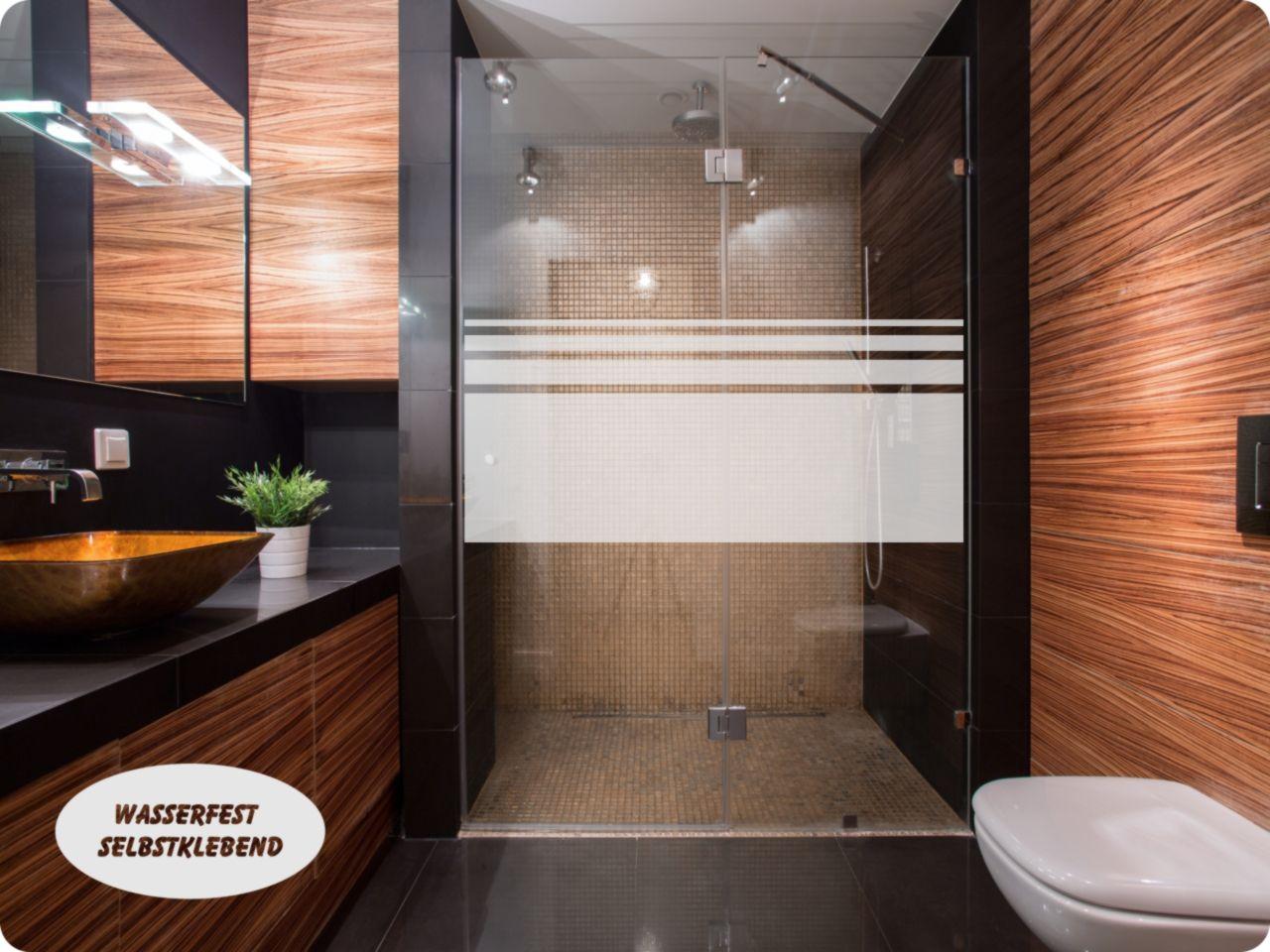 Aufkleber Folie Dusche Sichtschutz 650 Streifen 65cm Hoch Fensterfolie Badezimmerideen Duschtrennwand