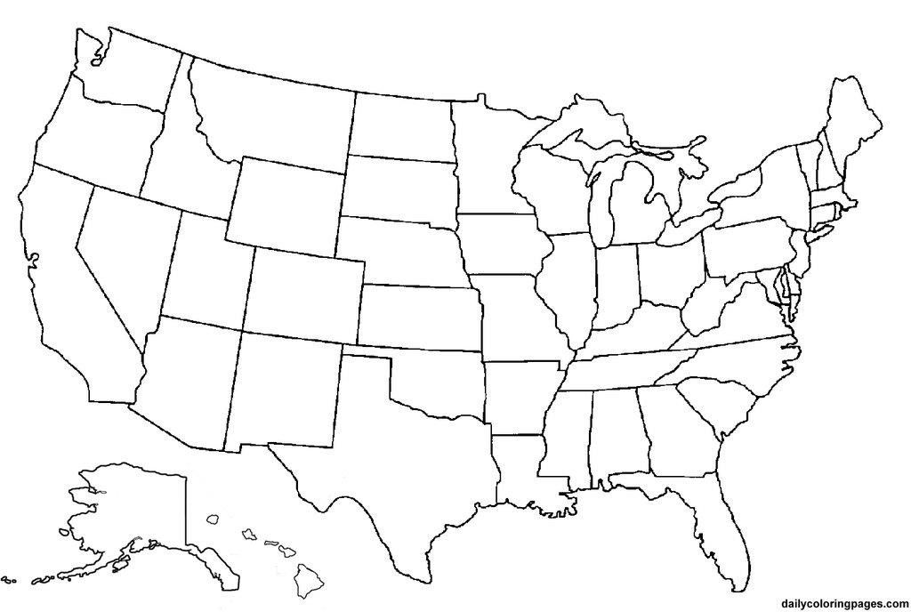 Blank Map of America | United states map, Road trip games ...