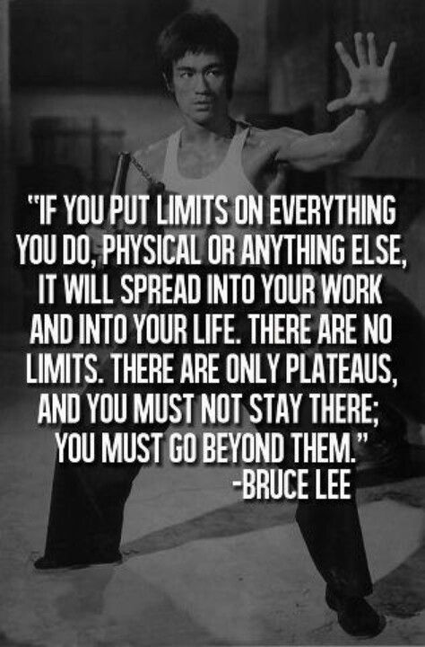 Bruce Lee There Are No Limits Awesome Mentor Motivation And