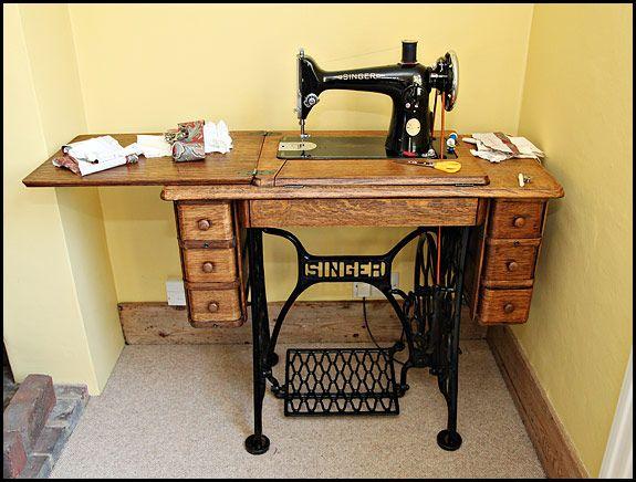 Singer 201K in 7-drawer cabinet table (treadle base) - Singer 201K In 7-drawer Cabinet Table (treadle Base) Sewing