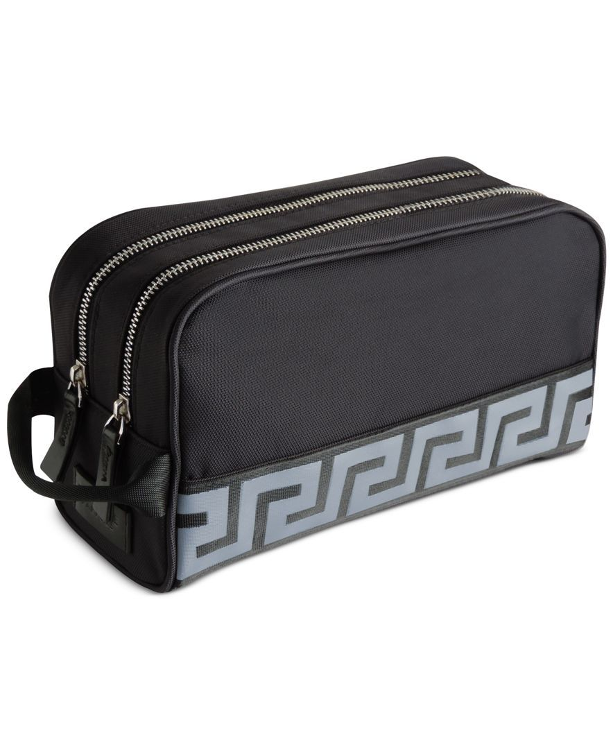 ba3766938031 Receive a Complimentary Toiletry Bag with any large spray purchase from the  Versace men s fragrance collection