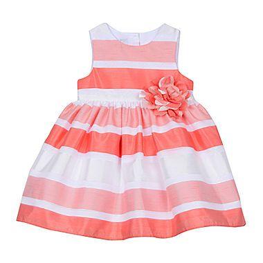 jcp | Marmelatta Burnout Stripe Dress - Baby Girls 3m-24m