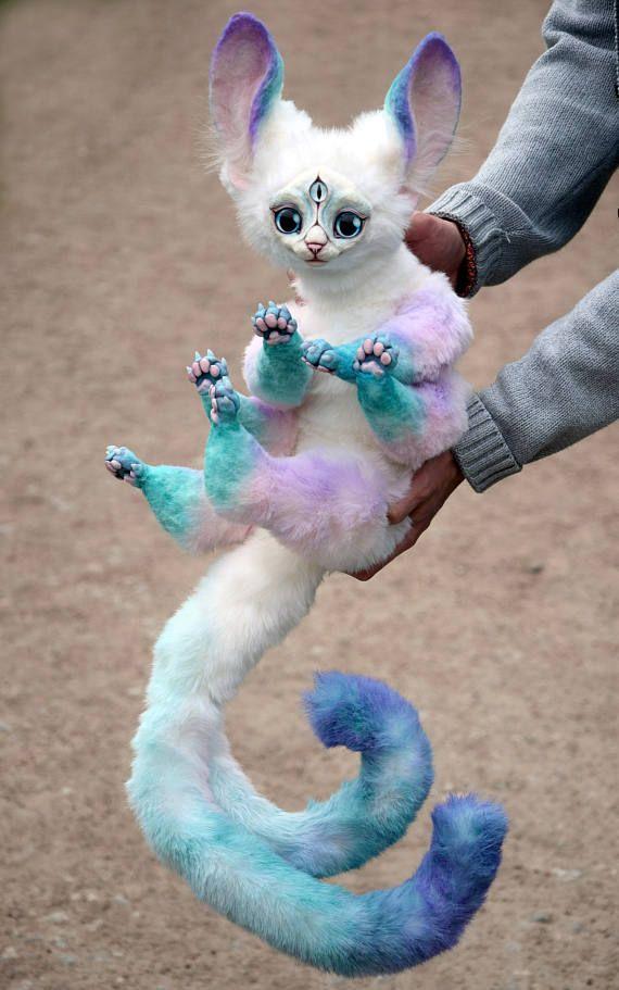 One And A Half Ice Cream Cats Etsy Cute Fantasy Creatures Cream Cat Cute Baby Animals