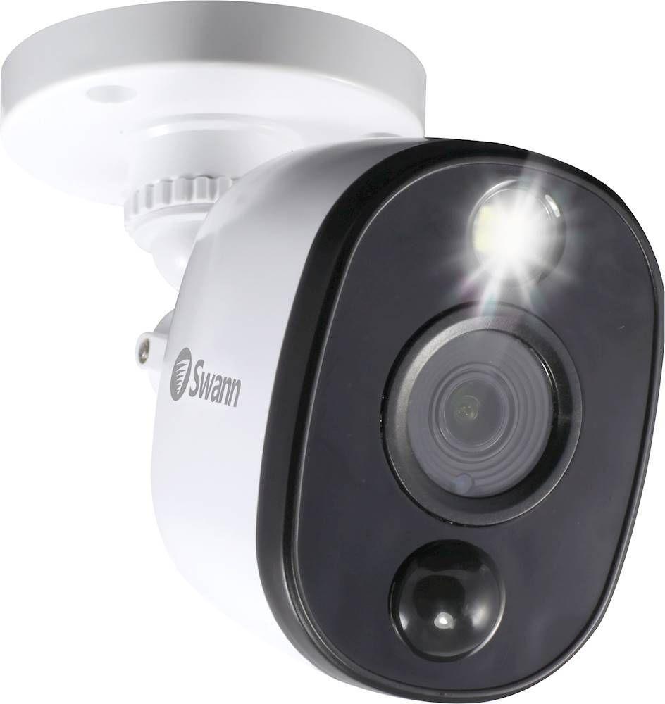 Swann Indoor Outdoor 1080p Wired Surveillance Camera Black White Swpro 1080msfb Us Best Buy Surveillance System Home Cctv Surveillance Camera