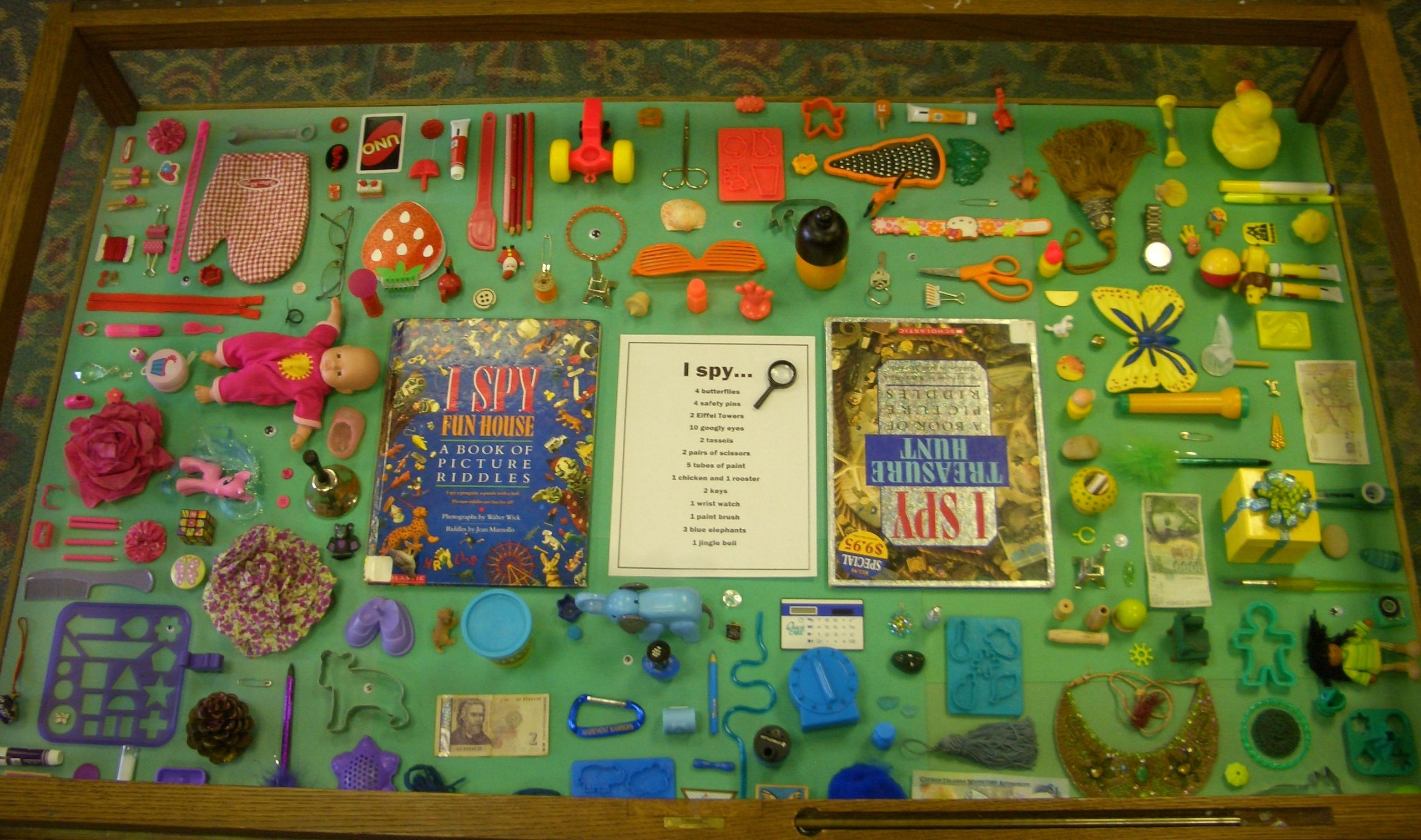This is the rainbow I Spy display I created for the ...