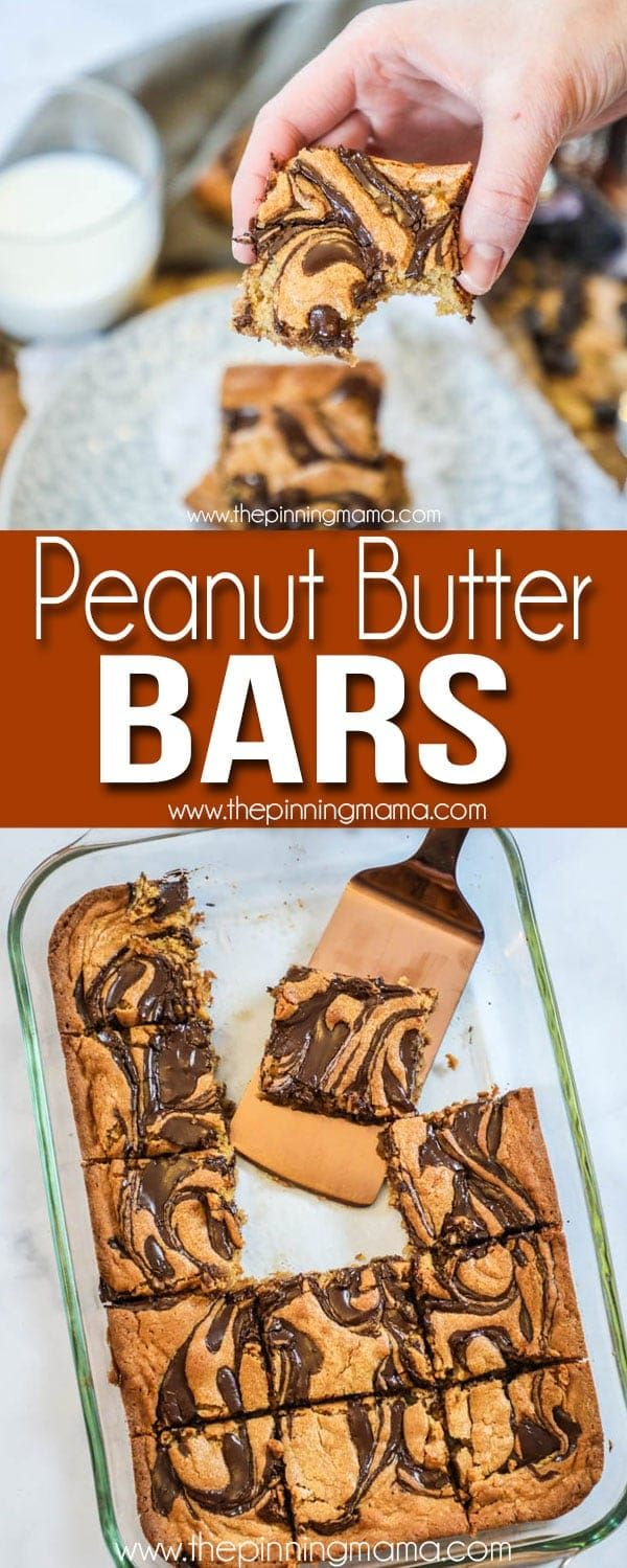 BEST EVER Peanut Butter Swirl Bars #bakesaleideas