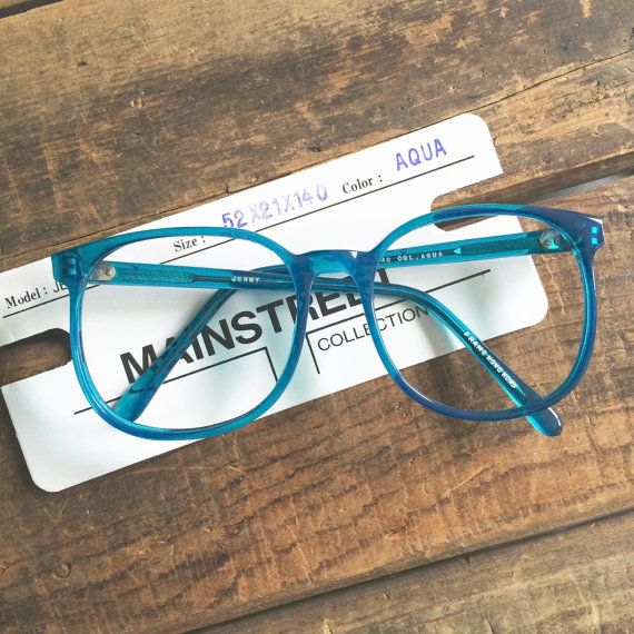 Vintage Glasses At Your Fingertips All Frames Are New Old Stock These Do Not Come With Clear Plastic Lenses But You Can Brin Vintage Glasses Aqua Coachella