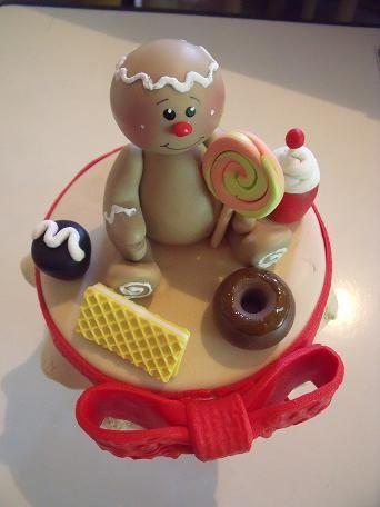 Frasco de Navidad con galletita