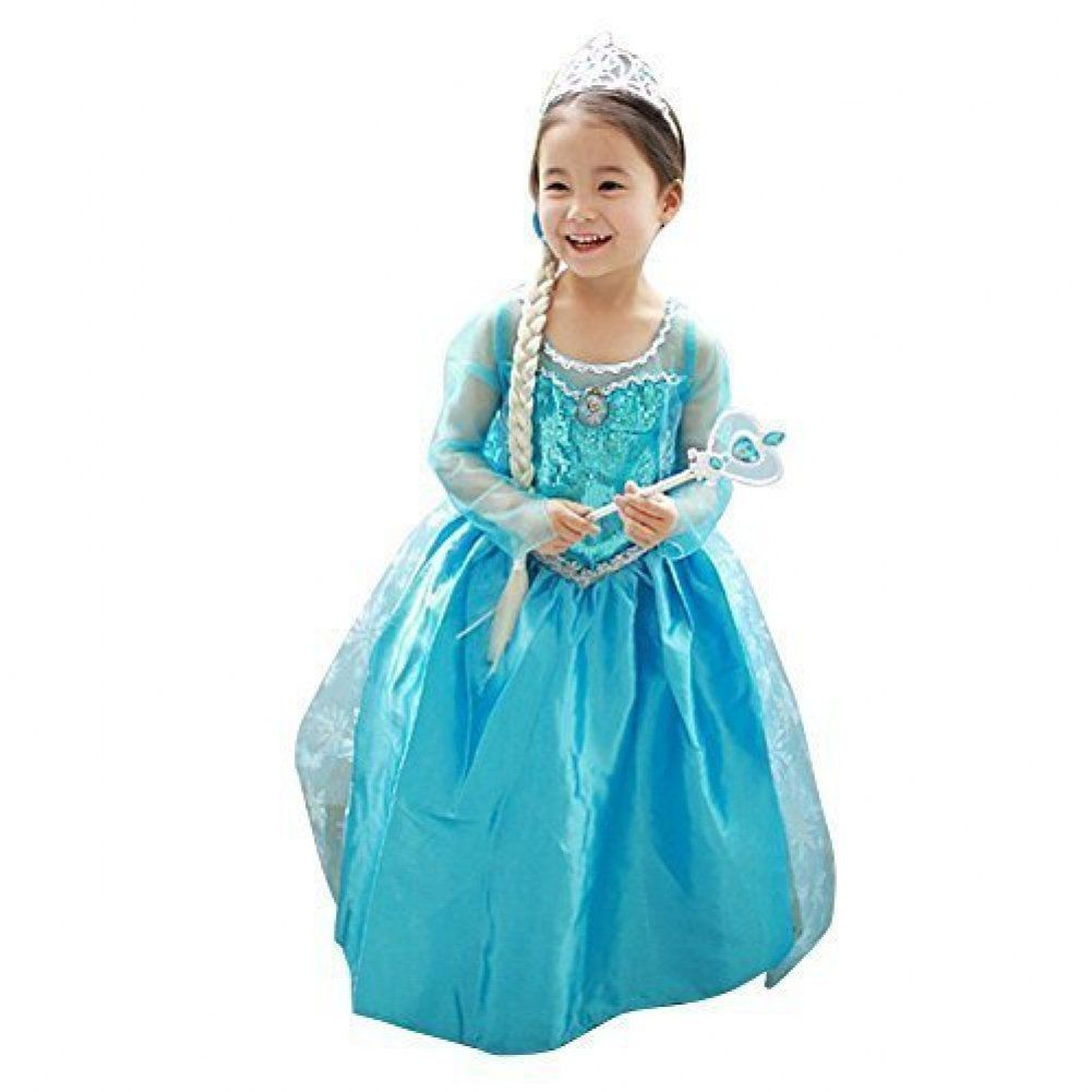 Girls New Princess Party Costume Long Dress Up for 2-3 Years: Toys ...