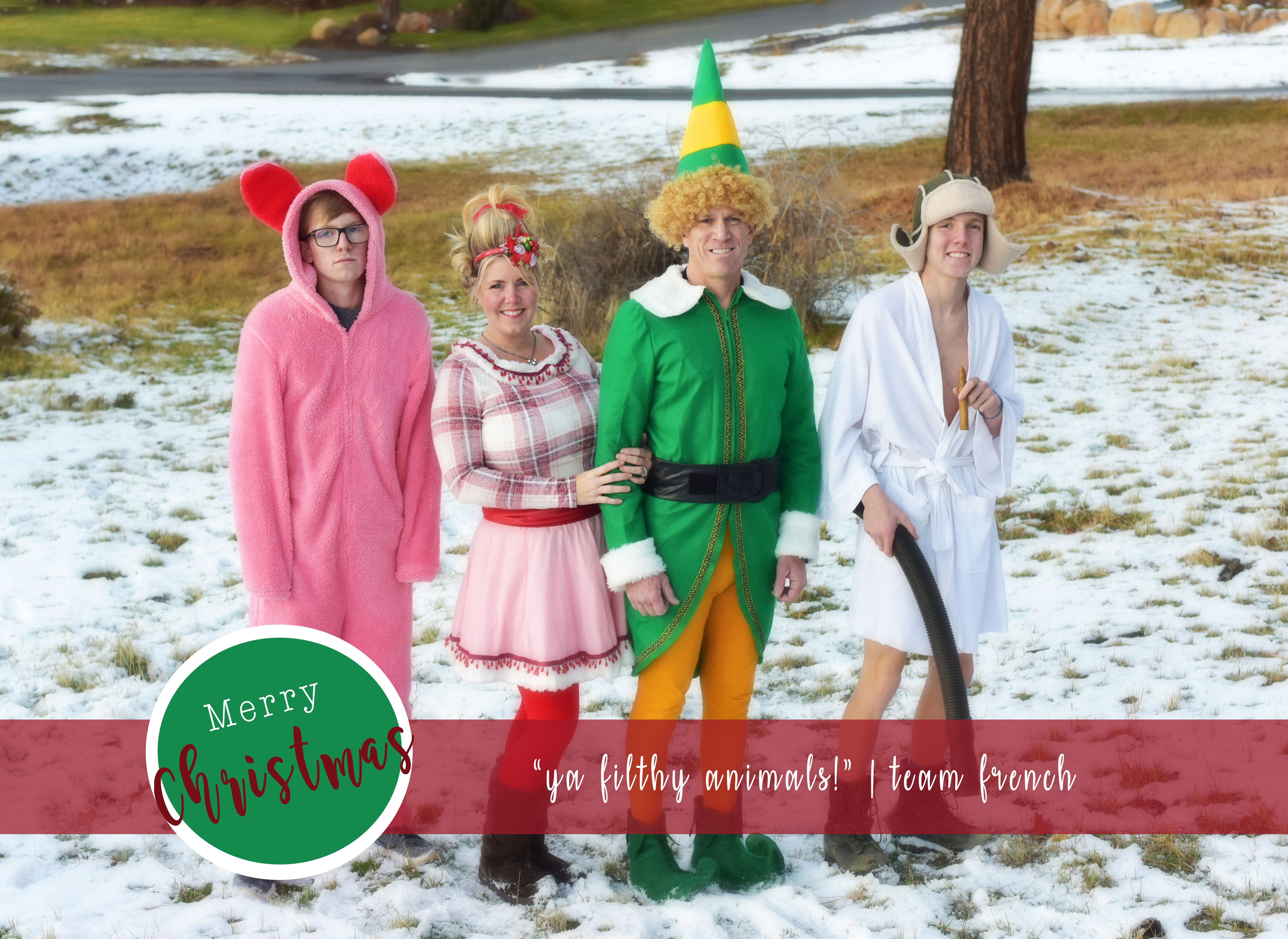 Funny Christmas Card My Family Christmas Card All The Christmas