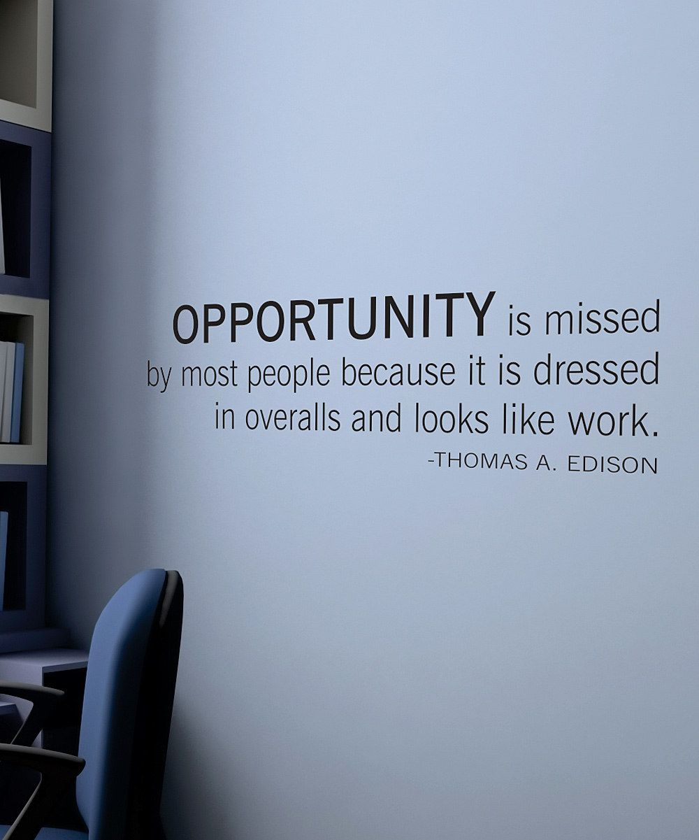 Belvedere Black U0027Opportunityu0027 Wall Quote