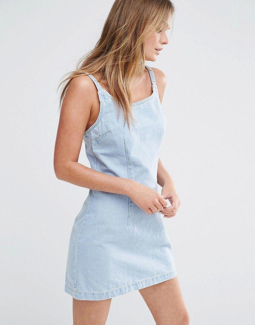New Look - Robe en jean moulante - Délavé blanchi   Wardrobes ... 3b3049ff5f9d