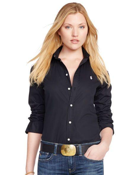 Custom-Fit Poplin Shirt - Polo Ralph Lauren Long-Sleeve - RalphLauren.com