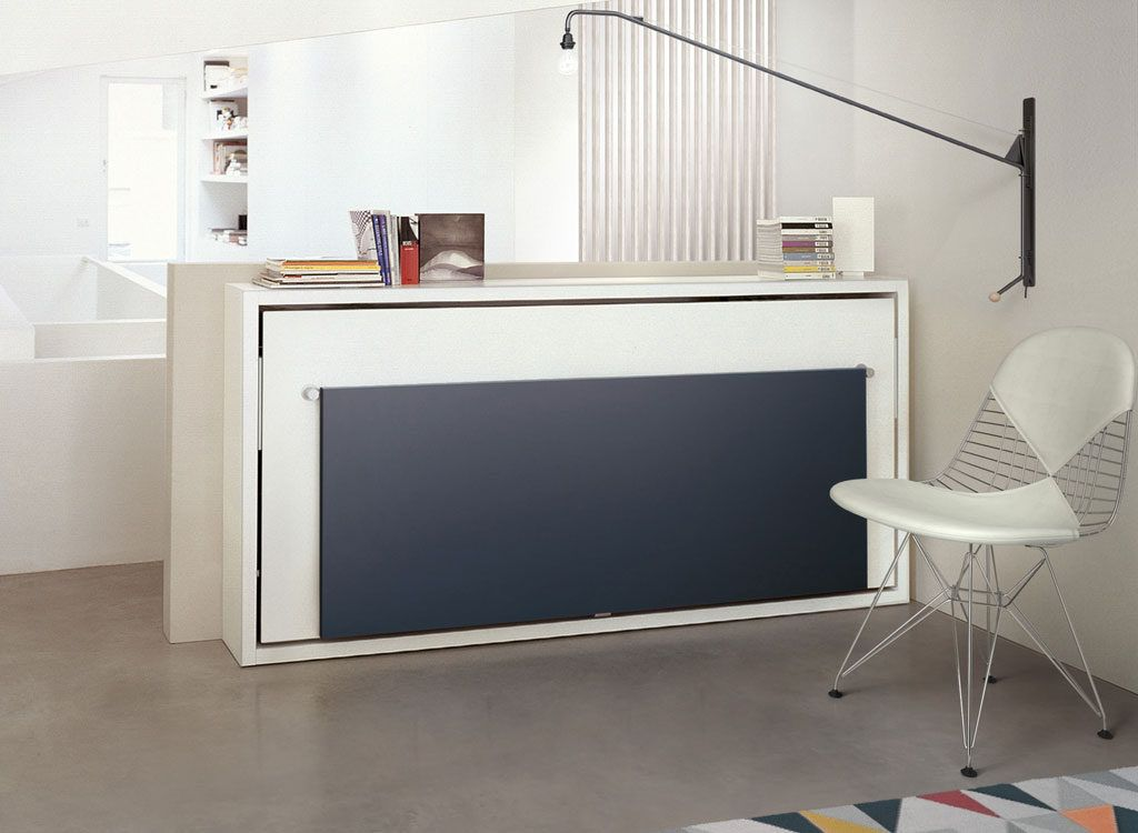The poppi book is  wall bed system with table or desk fold into panel to down ease multiple sizes available get quote also