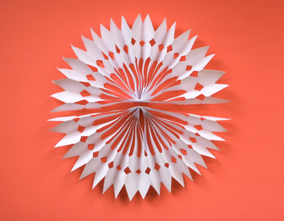 How About Orange DIY Paper Snowflake Decorations