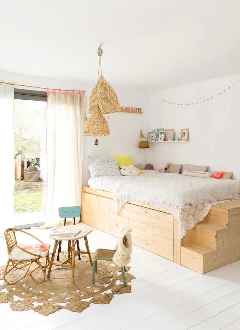 Dans la chambre d'enfant aussi, le lit va au coin