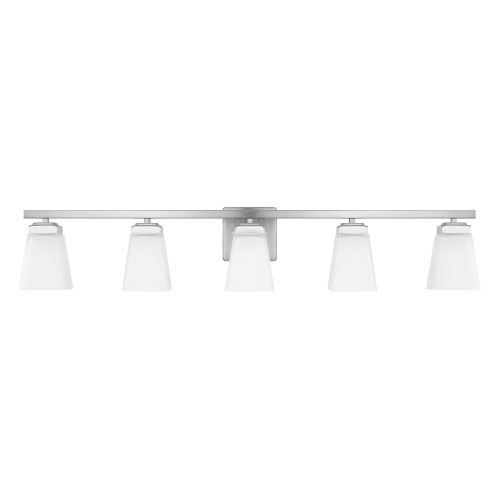 Photo of Capital Lighting Fixture Company 114451BN-334 HomePlace Baxley 40 inches. Five-light vanity made of brushed nickel – brushed, traditional