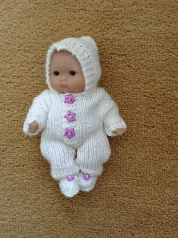 Hand Knitted Dolls Clothes To Fit 5 Berenguer Baby Dollitty Bitty