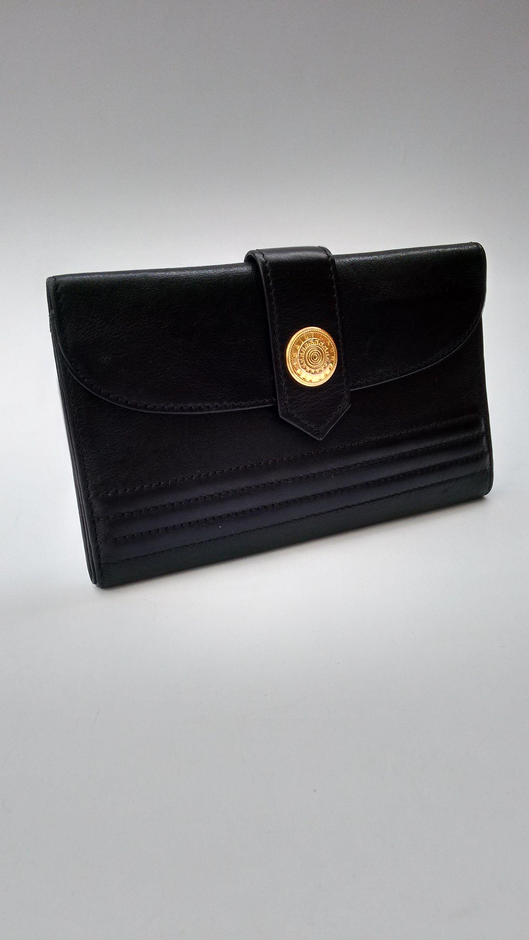 YSL Wallet. Yves Saint Laurent Vintage Black Leather Wallet   Purse  Card  holder. 923078ec0dab2