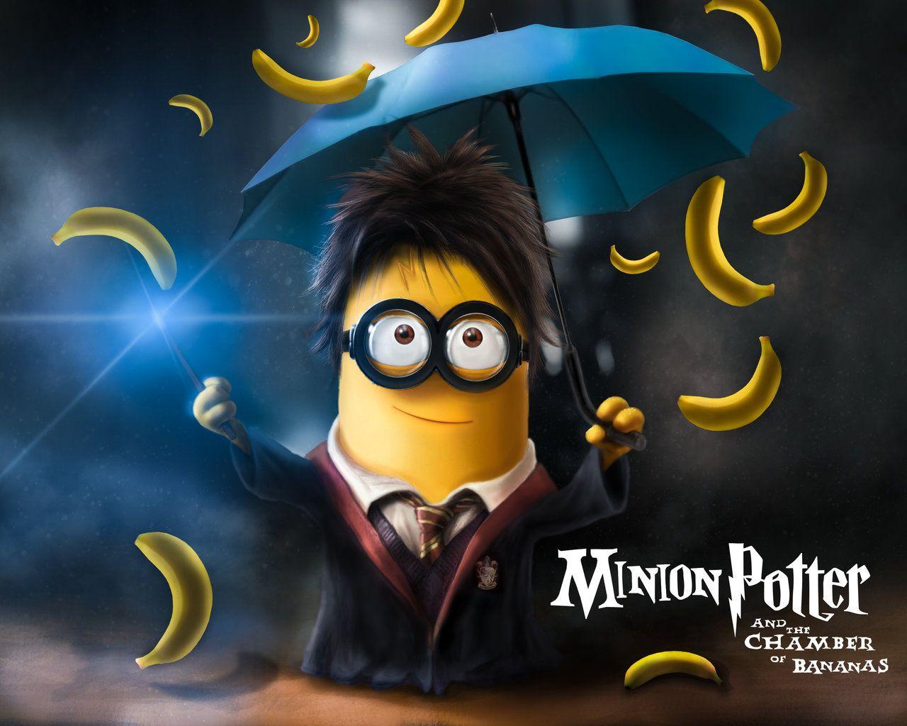 Minion + Bananas + Harry Potter U003d Minion Potter And The Chamber Of Bananas.