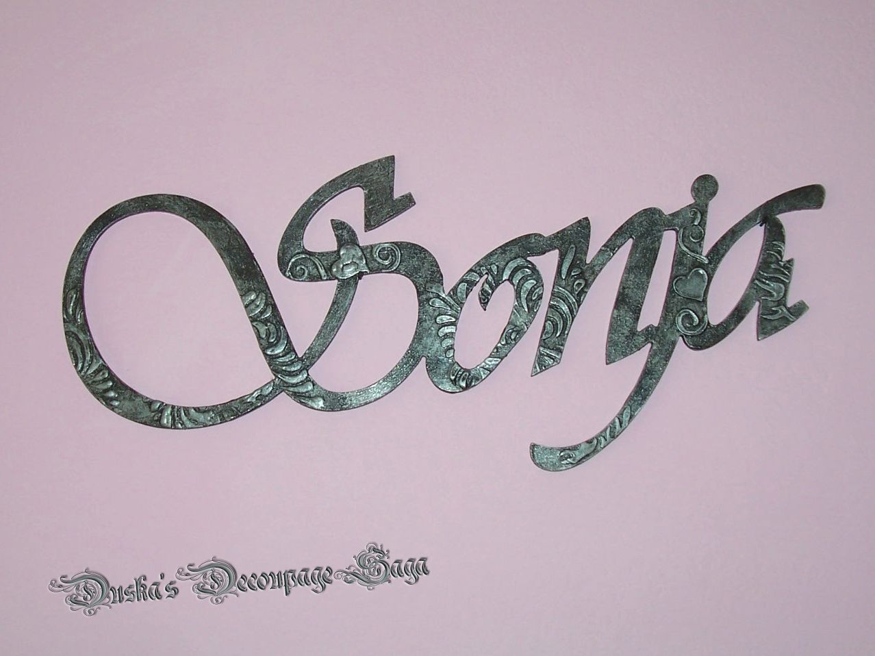 Duska's Decoupage Saga Wall Decor Letters