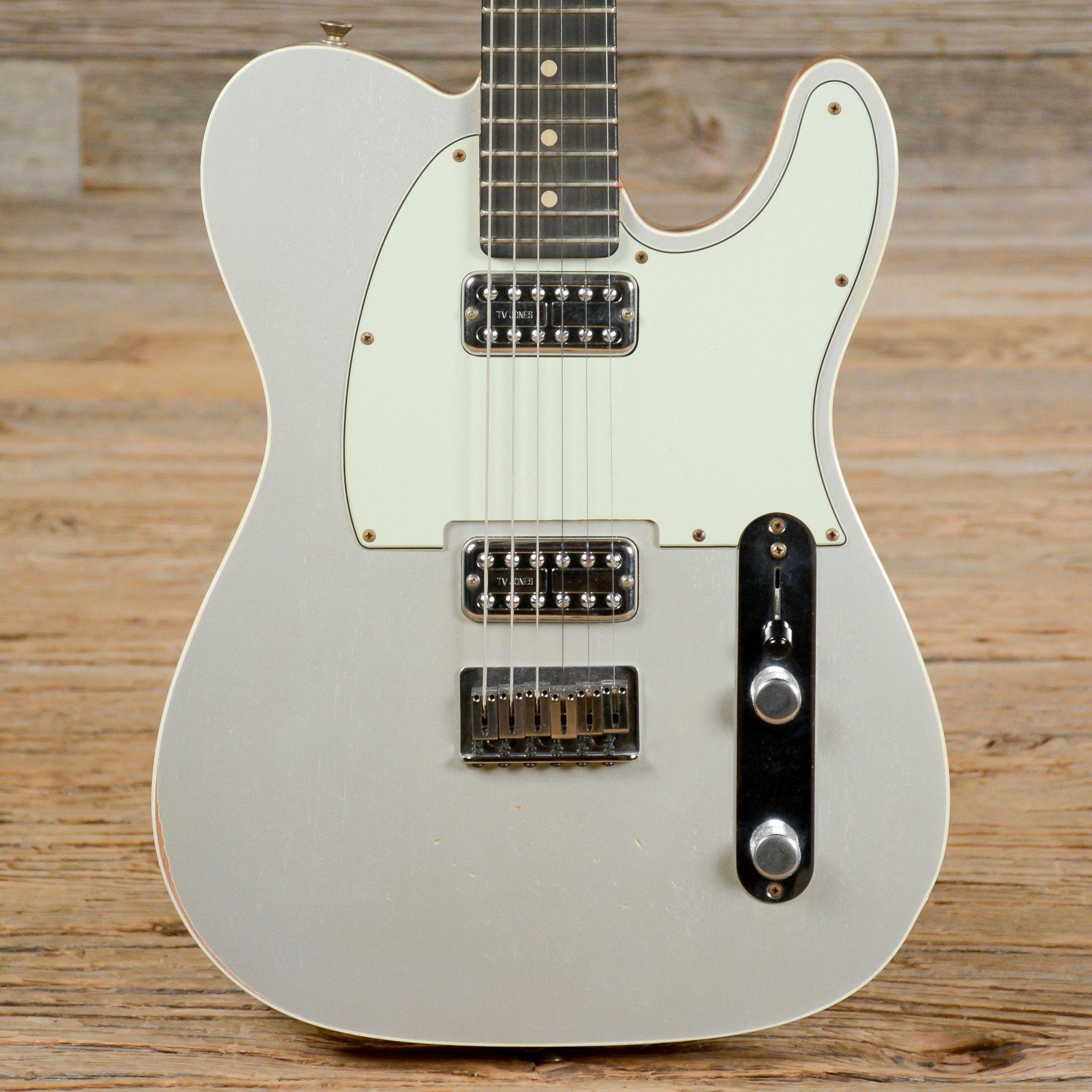 Fender Custom Shop Telecaster Silver w/TV Jones Pickups USED (s127 ...