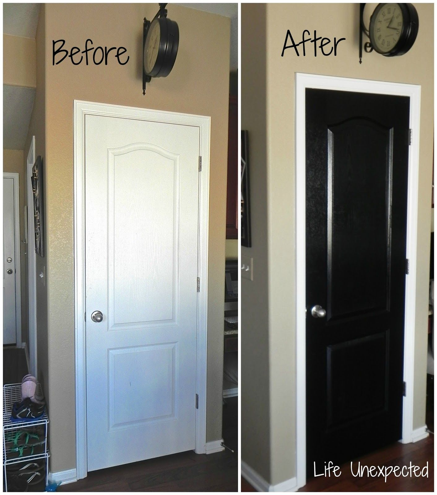 High Quality Decoration Ideas Stylish Before And After Refinished White 2 Panels Pantry  Doors To Chalkboard Door In
