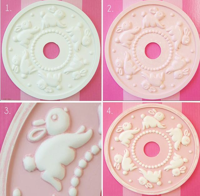 Customize your own ceiling medallion with this DIY from @MarieRicciCollections! #nursery #kidsroom