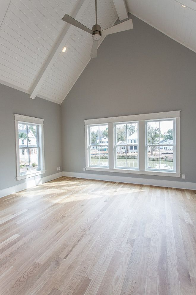 Love the floor light french gray by sherwin williams Paint colors that go with grey flooring
